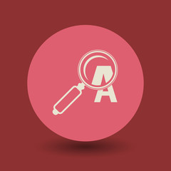 Magnifying glass symbol, vector