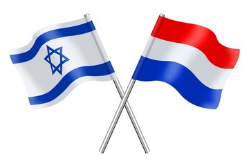 Flags: Israel and the Netherlands