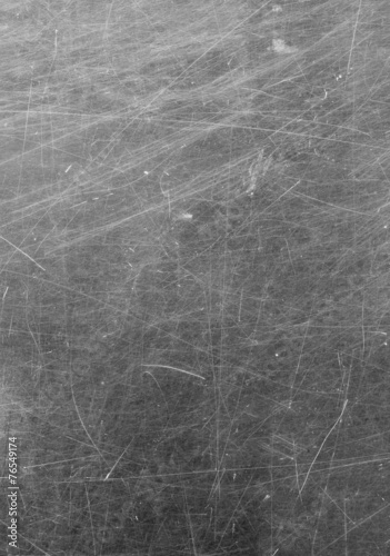 Scratched glass surface. black and white - 76549174