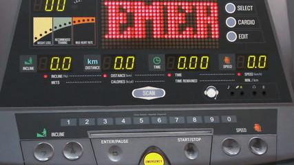 Digital information panel of futuristic device