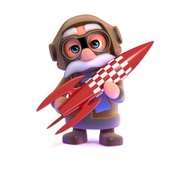 3d Pilot has a red rocket