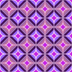 Seamless 70s purple and pink background honeycomb