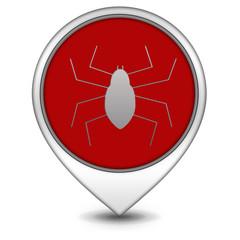 Spider pointer icon on white background
