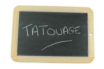 ardoise tatouage