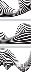 optical effect mobius wave stripe design