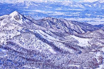 志賀高原の雪山