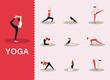Постер, плакат: Yoga poses