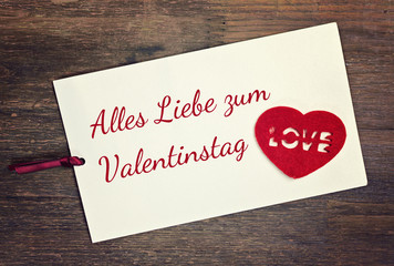 greeting card - valentine´s day