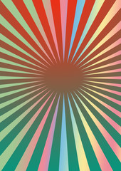 A pastel colored sunburst background image.