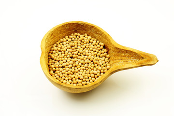 Soybeans in a Gourd Ladle