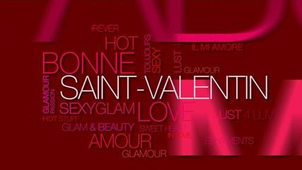Bonne Saint-Valentin nuage de mots texte animation