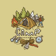 camp illustration
