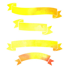 vector watercolor colorful ribbons banners