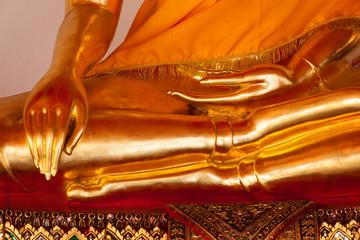 Sitting Buddha statue  details, Thailand