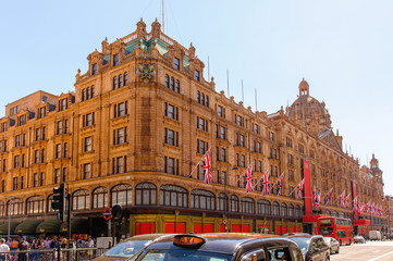 View of famous department store Harrods