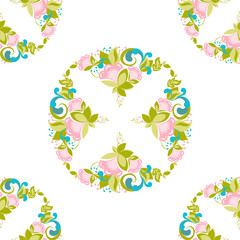 Floral geomatric pattern