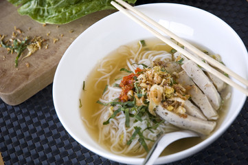 bowl of pho noodle