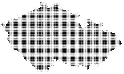 Tschechien gepunktet (schwarz)
