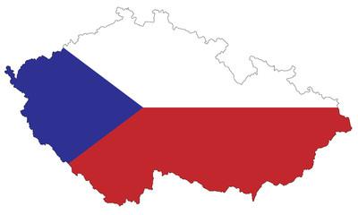 Tschechien als Flagge