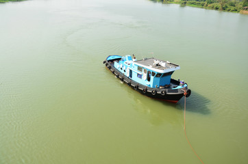 Barge and Tug Boat cargo ship in Choaphraya river