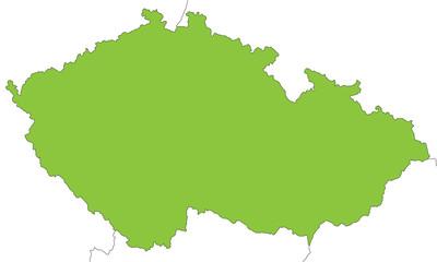 Tschechien in grün