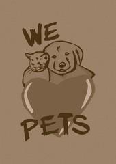 We love pets vintage