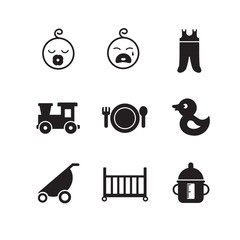 New born baby icons