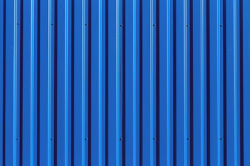 Blue metal siding wall texture