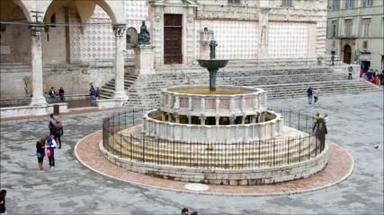 Perugia Brunnen vid 02 zeitraff