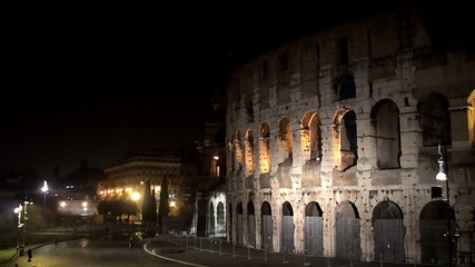 Coliseum In Rome at night.