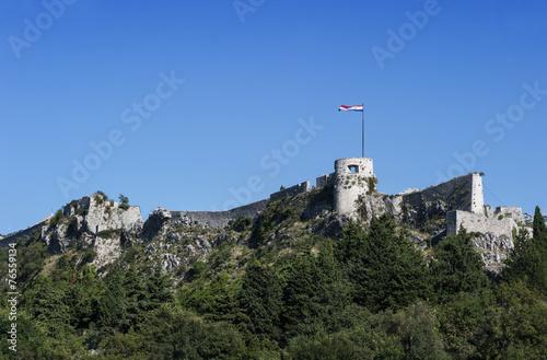 canvas print picture Alte Festung in Klis, Kroatien