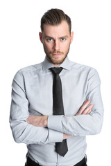 Focused businessman with tie