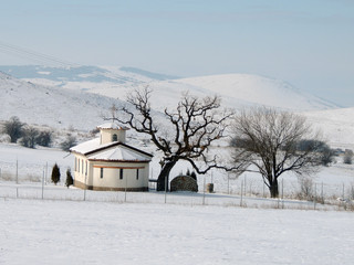 Small Church In The Winter