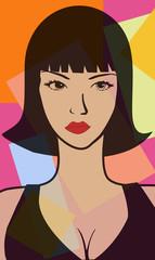 Portrait de femme pop
