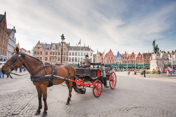 The Carriage on the Grote Markt in Bruges