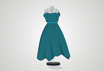 Woman dress fashion vector