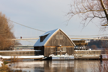 Schiffmühle bei Minden zur Winterzeit