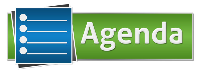 Agenda Green Blue Button Style