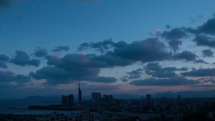 福岡市の夜明け