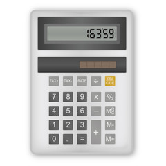 Calculatrice Grise blanche