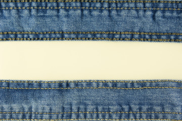 Jeans with stitch background