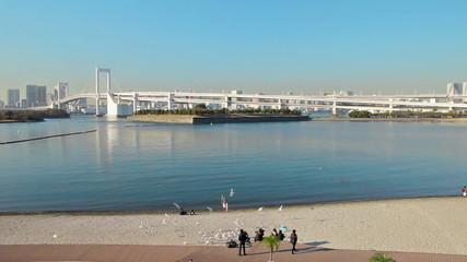 レインボーブリッジと海浜公園