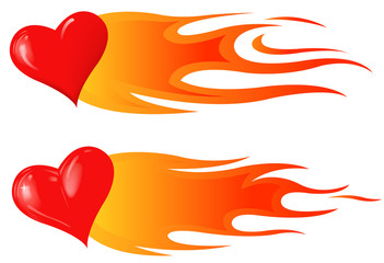 fire heart shape