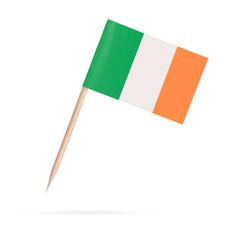 Miniature Flag Ireland.Isolated on white background