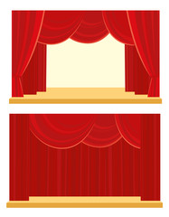 Theatre and cinema curtain