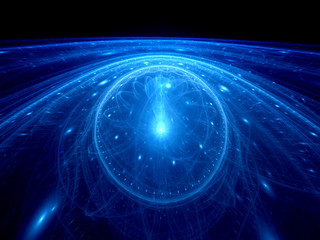Dimensional gate on event horizon