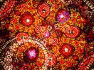 Artistic colorful fractal background