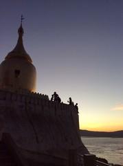 Myanmar temple in evening