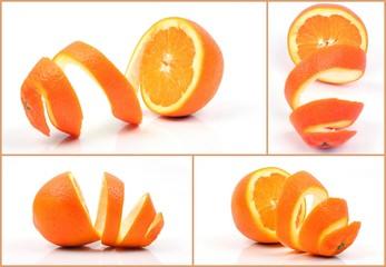 Vier halbe Orangen