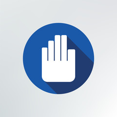 hand stop icon.